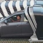 В Китае разработали новый тип гаражей для парковки во дворе.